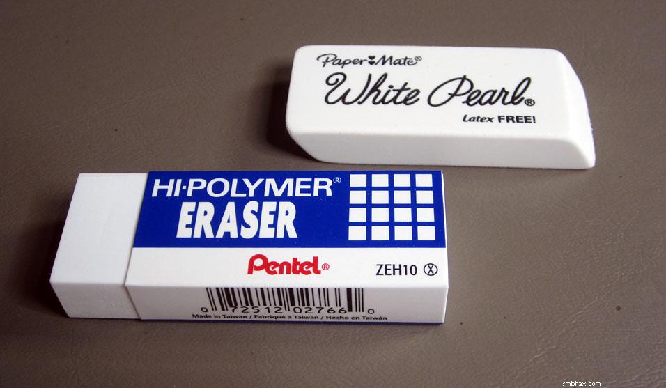 how to get eraser marks off plastic